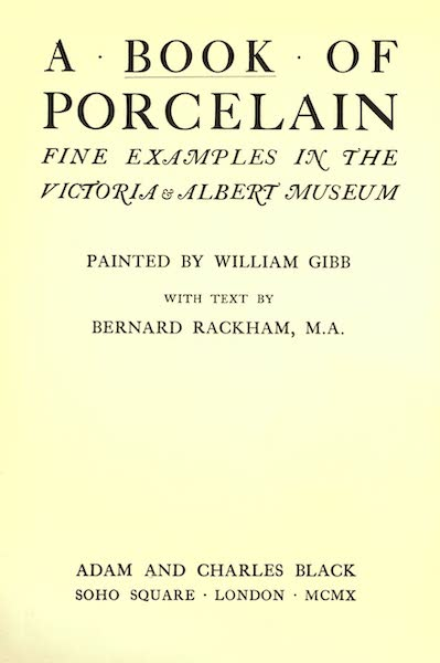 A Book of Porcelain - Title Page (1910)