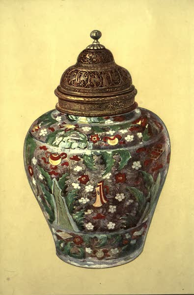 A Book of Porcelain - Jar, Ming Dynasty. Chinese, with Persian Brass Cover (1910)