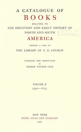 Andes - A Catalogue of Books Relating to the History of America Vol. 2