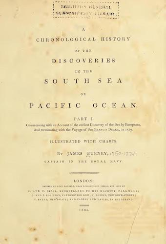 English - A Chronological History of the Discoveries in the South Sea Vol. 1