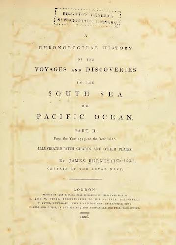 A Chronological History of the Discoveries in the South Sea Vol. 2 (1803)