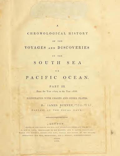 English - A Chronological History of the Discoveries in the South Sea Vol. 3