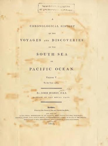 English - A Chronological History of the Discoveries in the South Sea Vol. 5