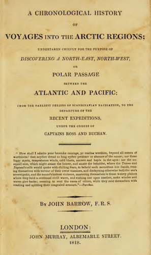 English - A Chronological History of Voyages into the Arctic Regions