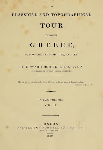 English - A Classical and Topographical Tour Through Greece Vol. 2