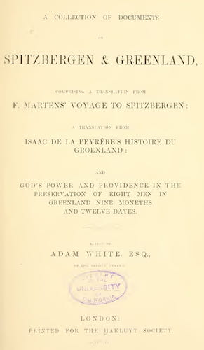 A Collection of Documents on Spitzbergen & Greenland (1855)