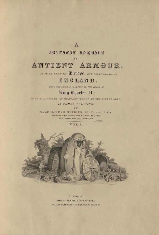 English - A Critical Inquiry into Antient Armour Vol. 1