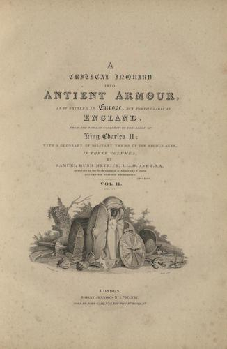 Aquatint & Lithography - A Critical Inquiry into Antient Armour Vol. 2