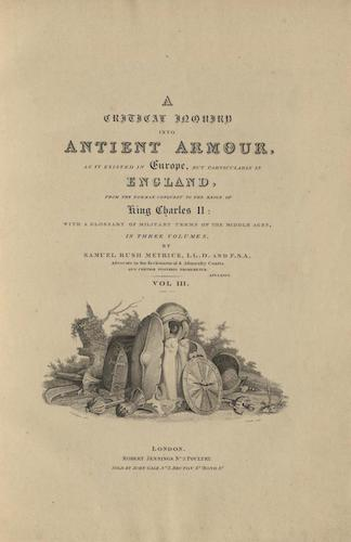 Aquatint & Lithography - A Critical Inquiry into Antient Armour Vol. 3