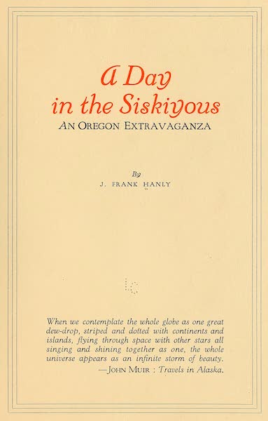 A Day in the Siskiyous - Title Page (1916)