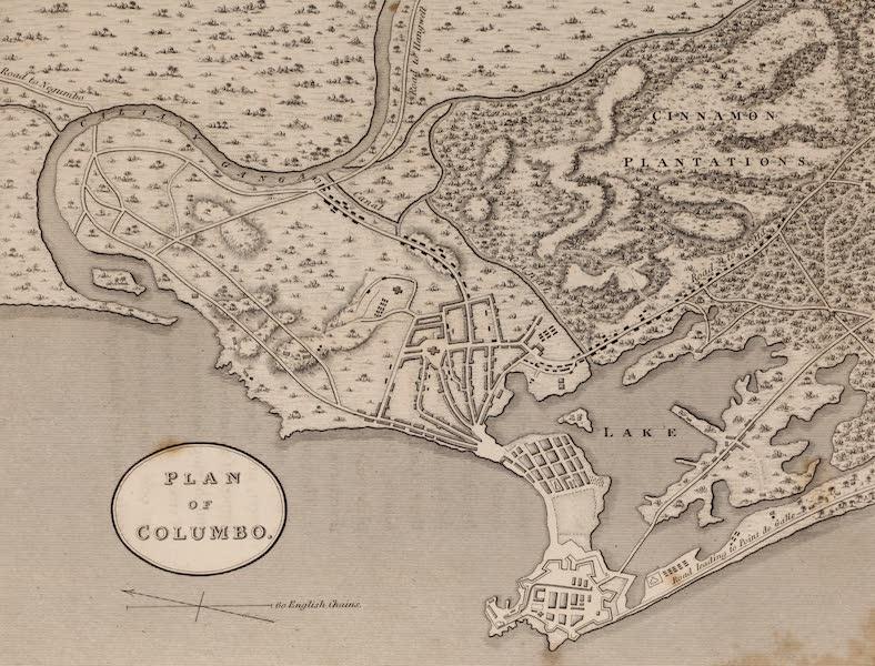 A Description of Ceylon Vol. 1 - Plan of Colombo (1807)