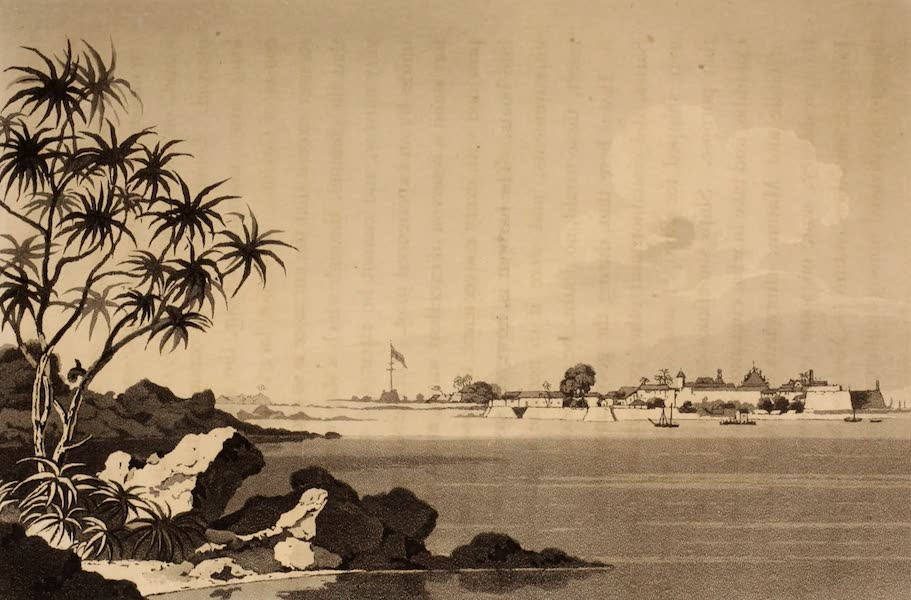A Description of Ceylon Vol. 1 - View of Point de Galle from the South-east (1807)