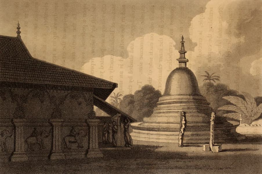A Description of Ceylon Vol. 1 - Cingalese Temple at Agrabodiganni (1807)