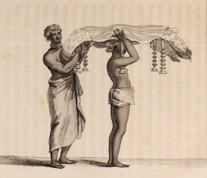 A Description of Ceylon Vol. 1 - Manner of carrying the Sacred Book preparatory to the Administration of an Oath to a Brahmin (1807)