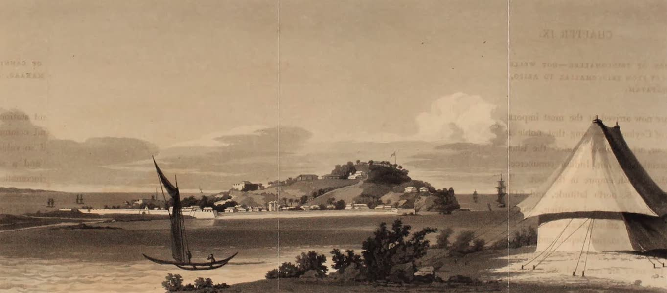 A Description of Ceylon Vol. 1 - The Fort of Trincomallee from the Governor's Bungaloe (1807)