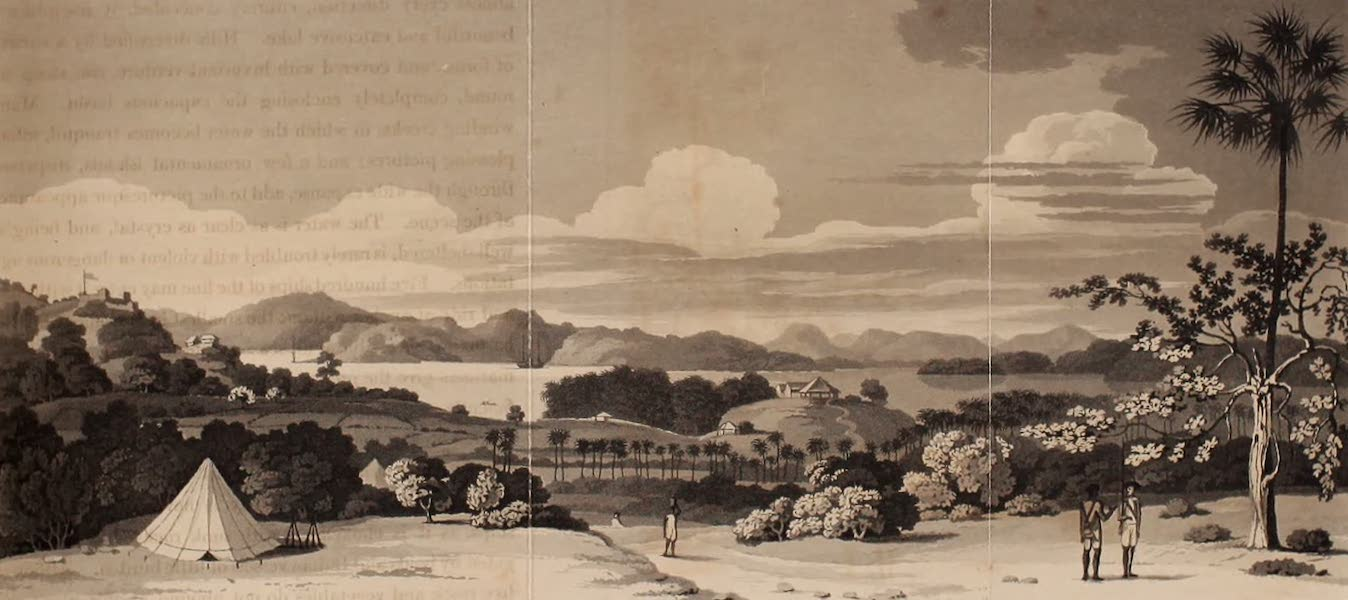 A Description of Ceylon Vol. 1 - Fort Ostenburgh and the Harbour of Trincomallee (1807)