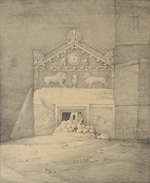 A Description of some Ancient Monuments in Lydia and Phyrgia - Tomb of Solon, Gombet-Li (1842)