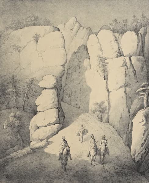 A Description of some Ancient Monuments in Lydia and Phyrgia - Monkey Pass near Kurkh on the Road to Gombet Li (1842)