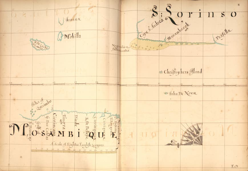 A Description of the Sea Coasts in the East Indies - 8) Mosambuique, S. Lorinso [II] (1690)