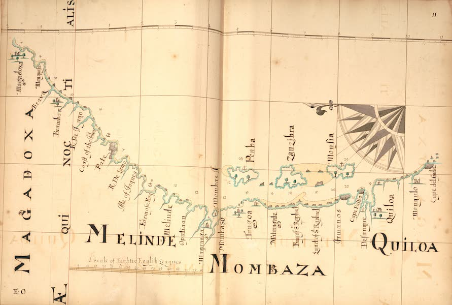 A Description of the Sea Coasts in the East Indies - 11) Magadoxa, Melinde, Mombaza, Quiloa (1690)