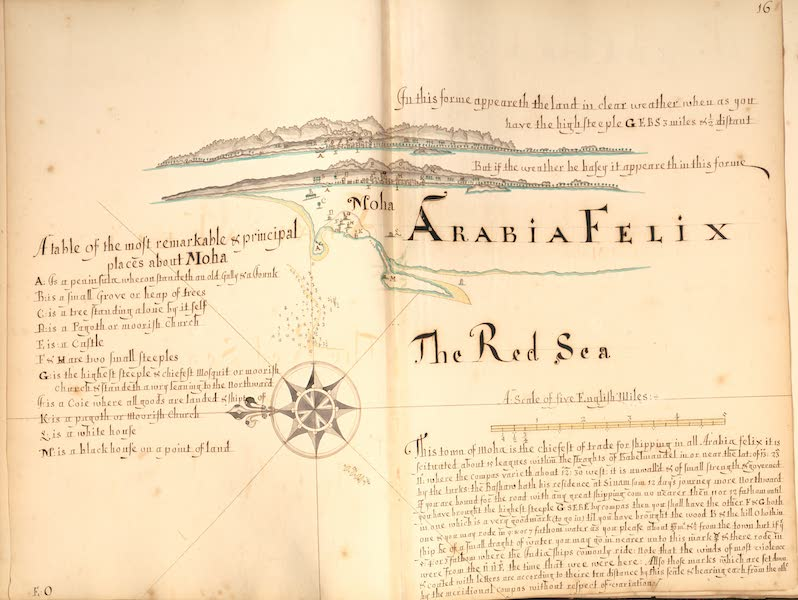 A Description of the Sea Coasts in the East Indies - 16) Moha, Arabian Felix, the Red Sea (1690)