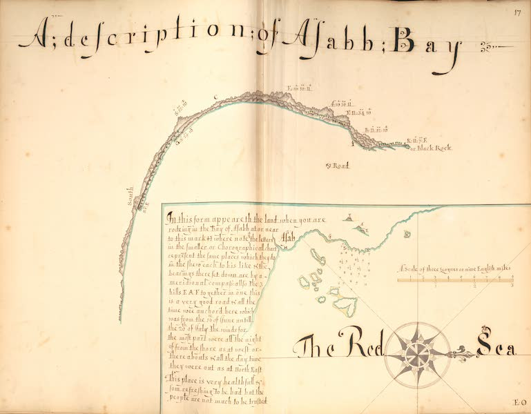 17) A Description of Asabb Bay, the Red Sea