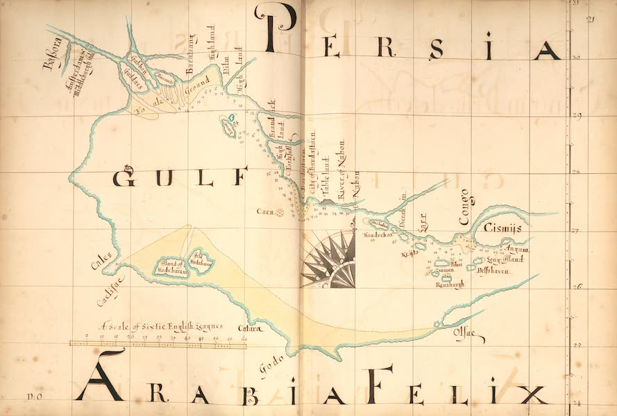 A Description of the Sea Coasts in the East Indies - 21) Persia, Arabia, Felix [III] (1690)
