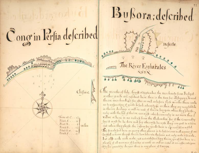 A Description of the Sea Coasts in the East Indies - 22) Cong in Persia described, Bussora described (Euphrates River) (1690)