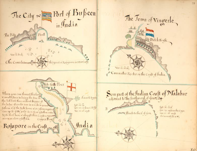 A Description of the Sea Coasts in the East Indies - 25) Busseen, Vingerle, Malabar, Rojapore (1690)