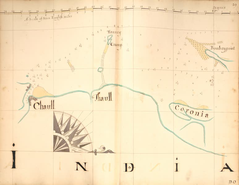 A Description of the Sea Coasts in the East Indies - 29) India (1690)