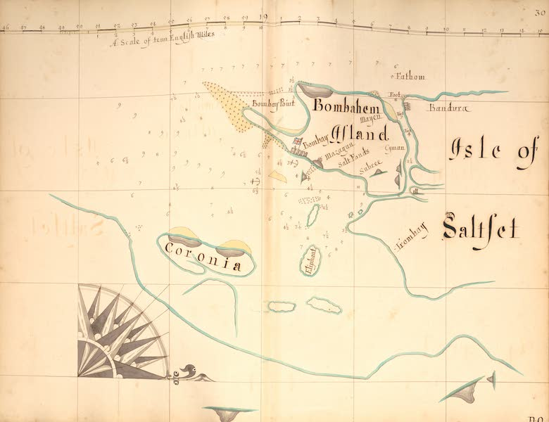 A Description of the Sea Coasts in the East Indies - 30) Bombahem Island, Island of Saltset, Coronia (1690)
