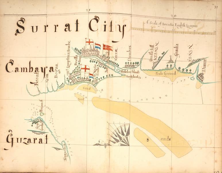 A Description of the Sea Coasts in the East Indies - 31) Surrat City, Cambaya, Guzarat (1690)