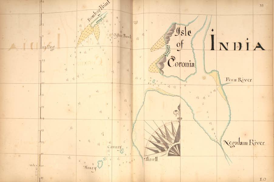 A Description of the Sea Coasts in the East Indies - 33) Isle Coronia, India (1690)