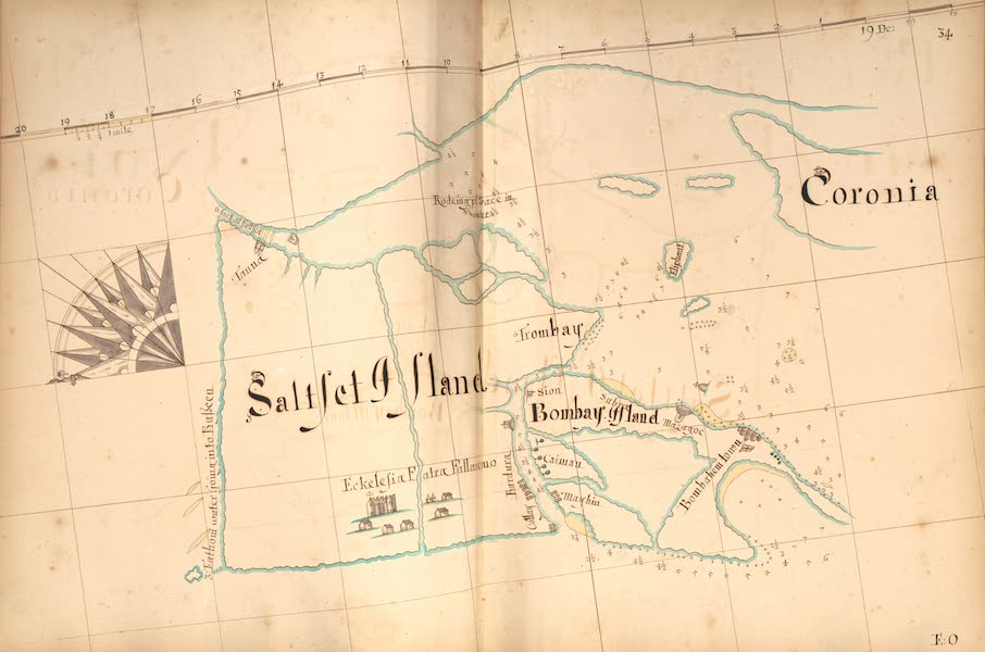 A Description of the Sea Coasts in the East Indies - 34) Saltset Island, Bombay Island, Coronia (1690)