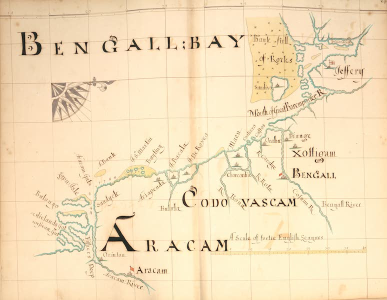 A Description of the Sea Coasts in the East Indies - 54) Bengall Bay, Aracam (1690)