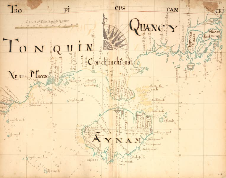 A Description of the Sea Coasts in the East Indies - 63) Tonquin, Qunacy, Aynam (1690)
