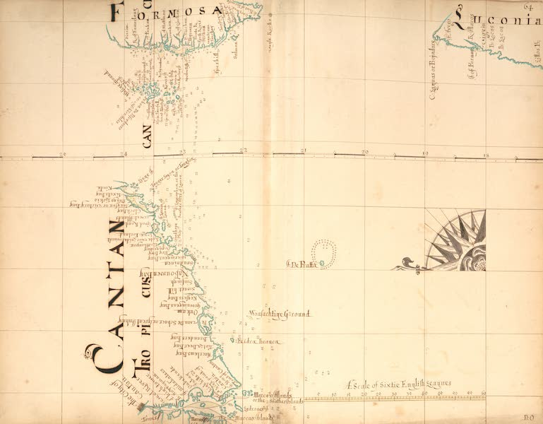 A Description of the Sea Coasts in the East Indies - 64) Cantan, Formosa, Luconia (1690)