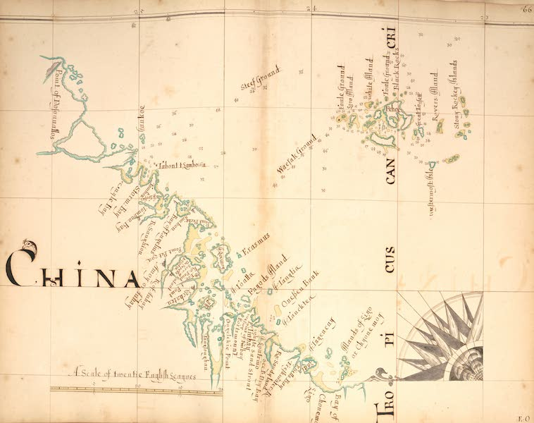 A Description of the Sea Coasts in the East Indies - 66) China (1690)