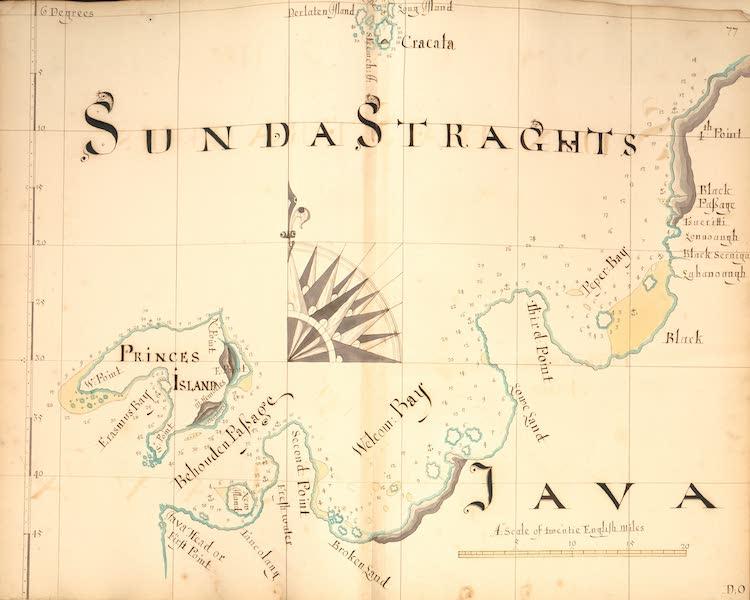 A Description of the Sea Coasts in the East Indies - 77) Sunda Straghts, Java (1690)