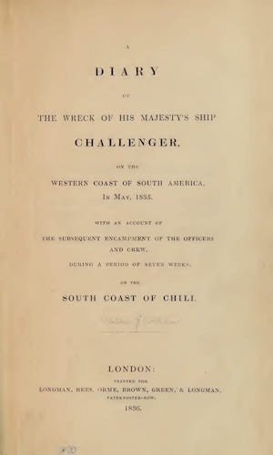 English - A Diary of the Wreck of His Majesty's Ship Challenger