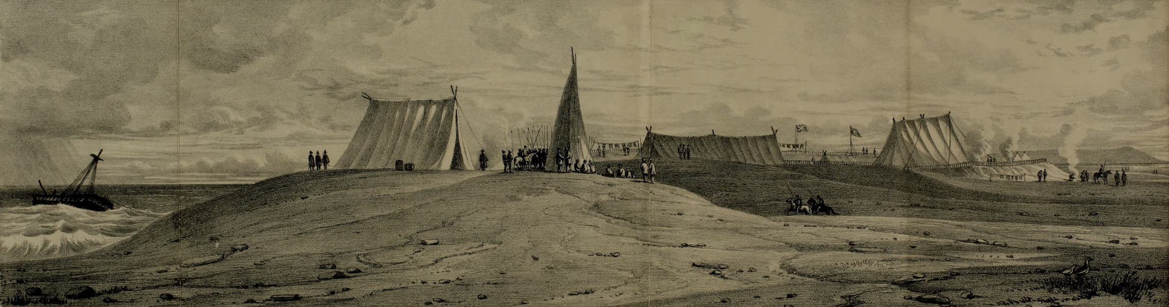 A Diary of the Wreck of His Majesty's Ship Challenger - Encampment at Molguilla, Chili (1836)