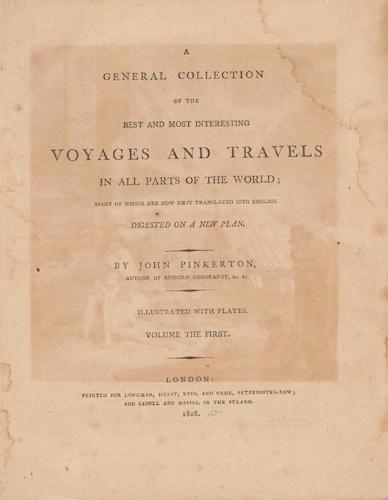English - A General Collection of Voyages and Travels Vol. 1