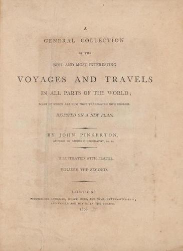 English - A General Collection of Voyages and Travels Vol. 2
