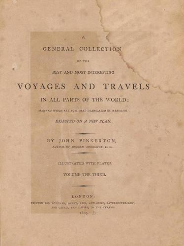English - A General Collection of Voyages and Travels Vol. 3