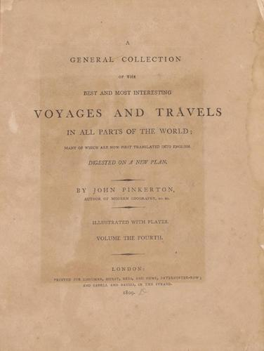 English - A General Collection of Voyages and Travels Vol. 4