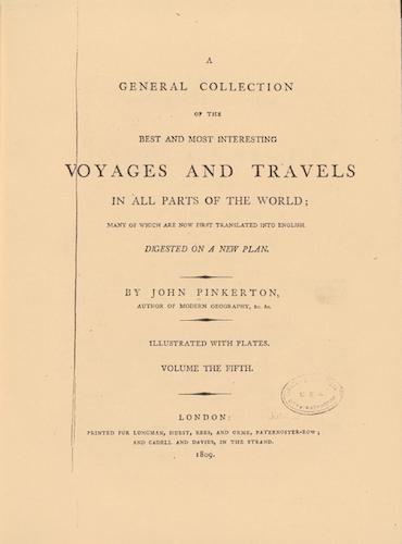 English - A General Collection of Voyages and Travels Vol. 5