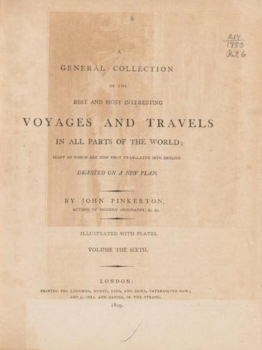 English - A General Collection of Voyages and Travels Vol. 6