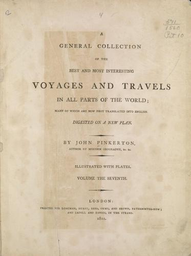 English - A General Collection of Voyages and Travels Vol. 7