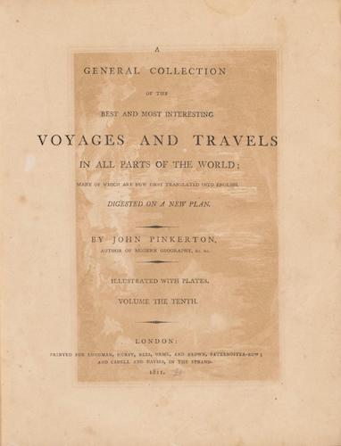 English - A General Collection of Voyages and Travels Vol. 10