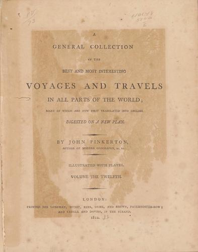 English - A General Collection of Voyages and Travels Vol. 12